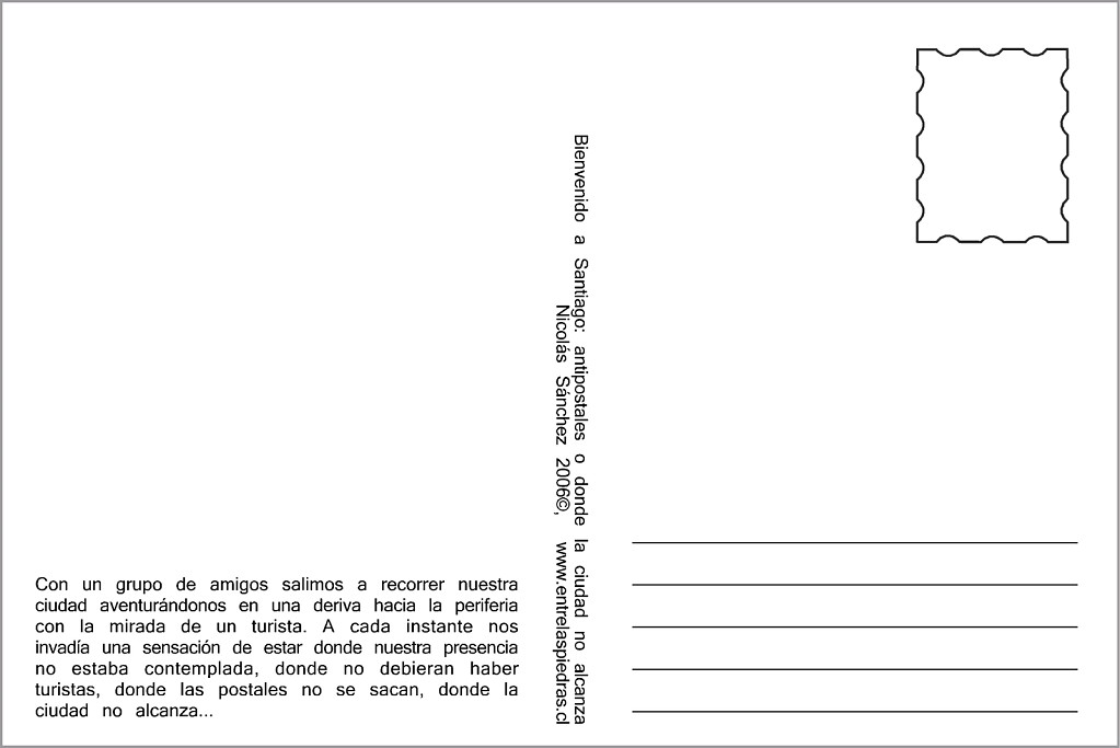 Back of the Antipostcards