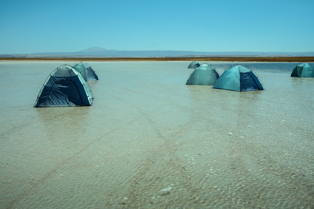 Floating tents