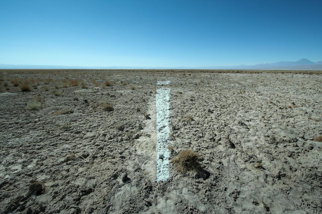 A line made by salt