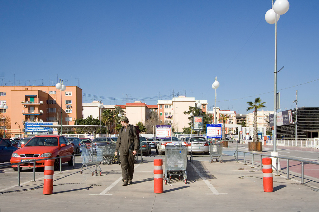 Arriving at Gran Turia shopping centre