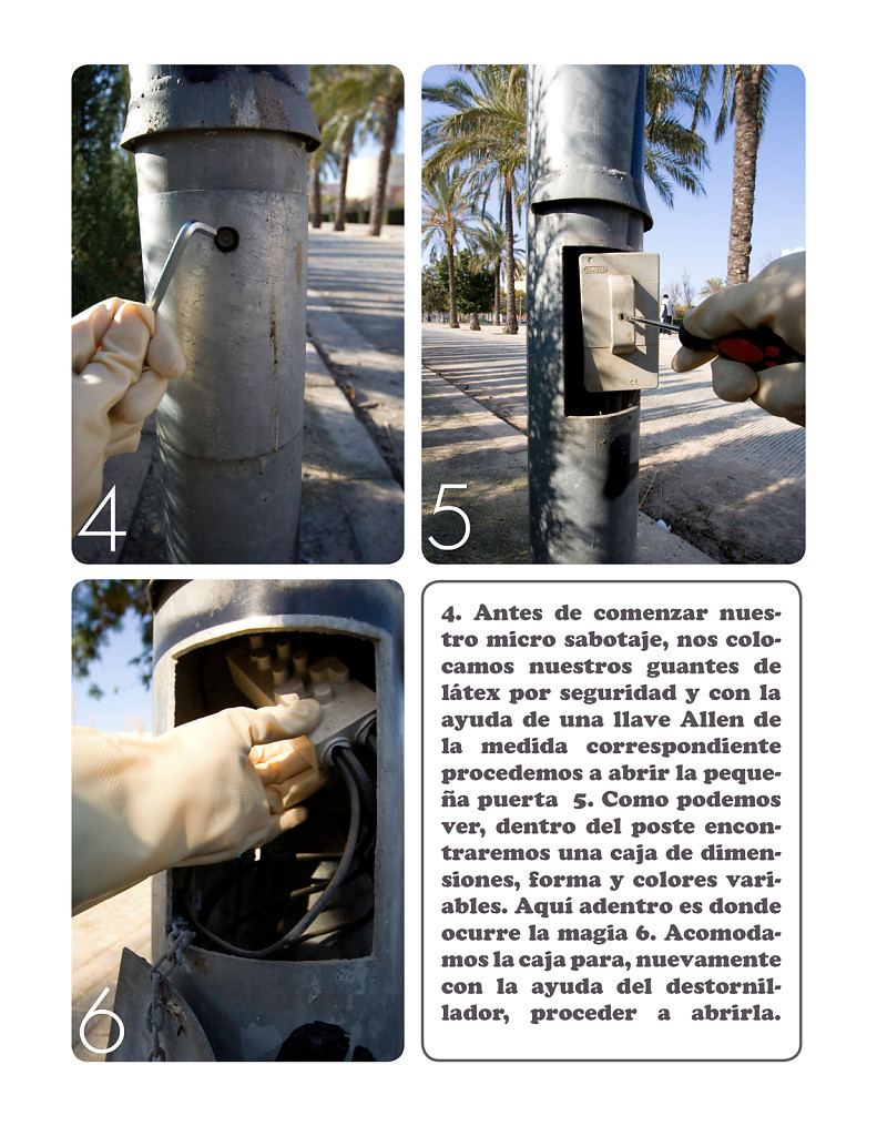 Makeshift taps manual