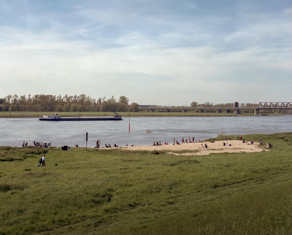 Hamm beach at the Rhine