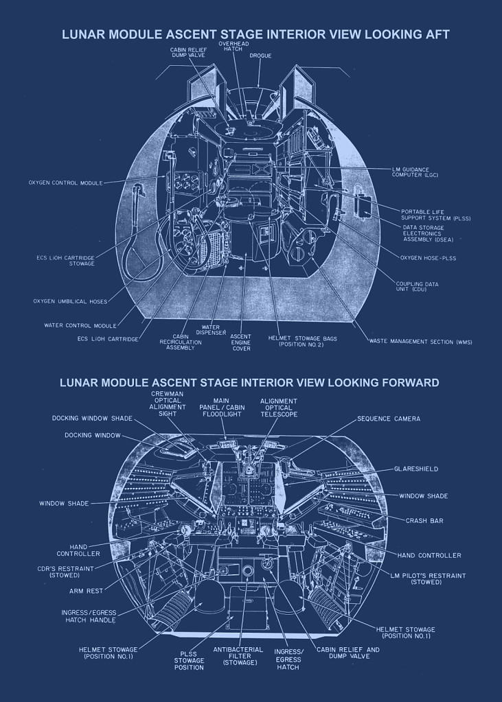 LM ascent stage interior view
